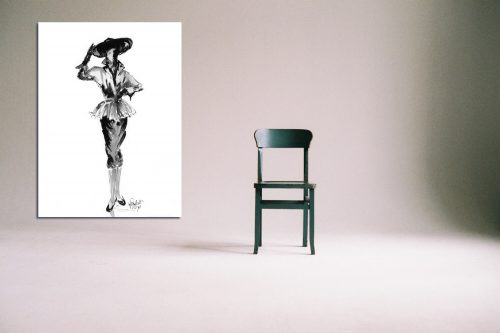 'Lauren' - Large Canvas With Chair
