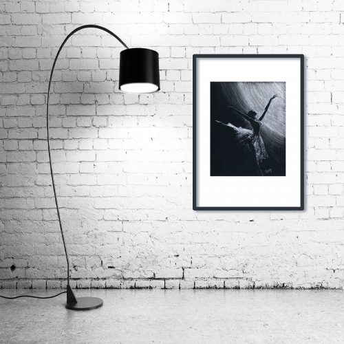 'Limelight' - Wall Art with Lamp