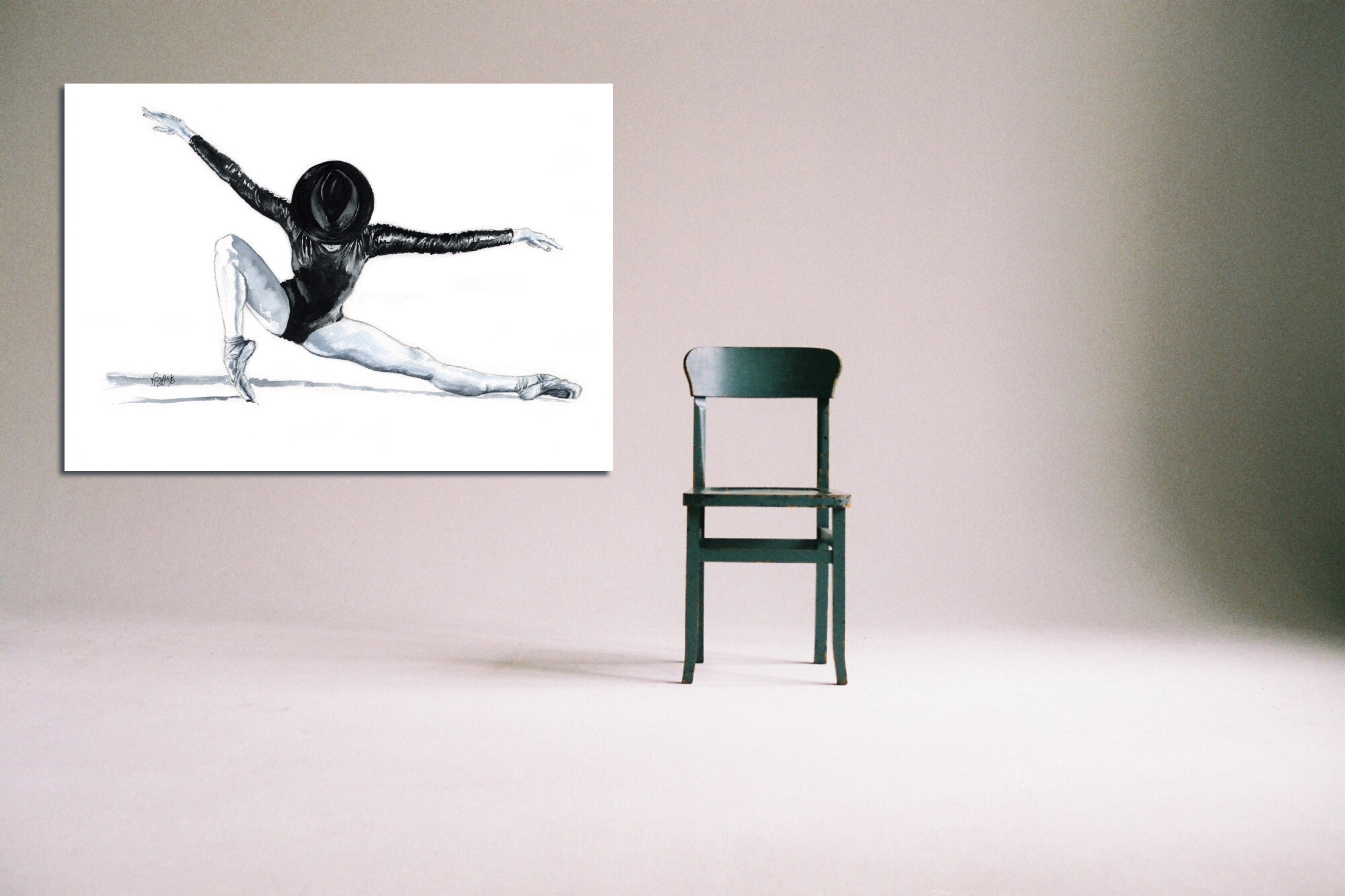 'All That Jazz' - Large Canvas With Chair