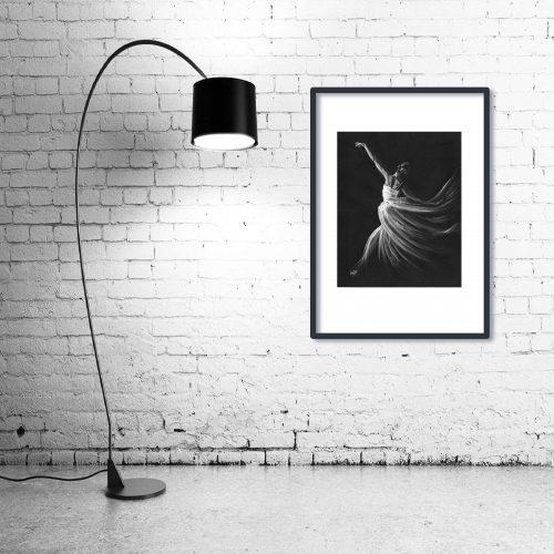 'Free Spirit' - Wall Art with Lamp