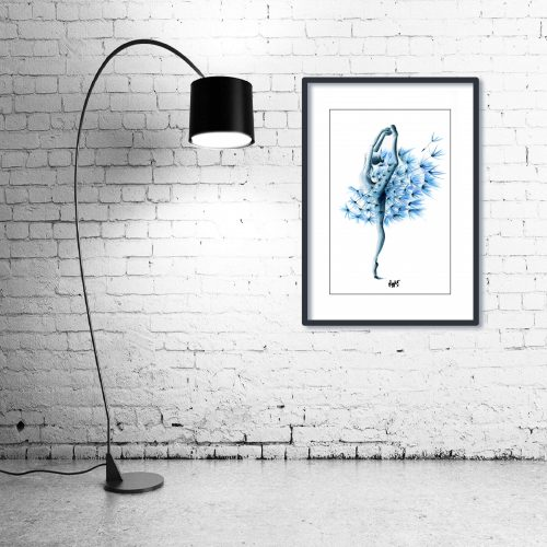 'Dance of the Dandelion' - Wall Art with Lamp