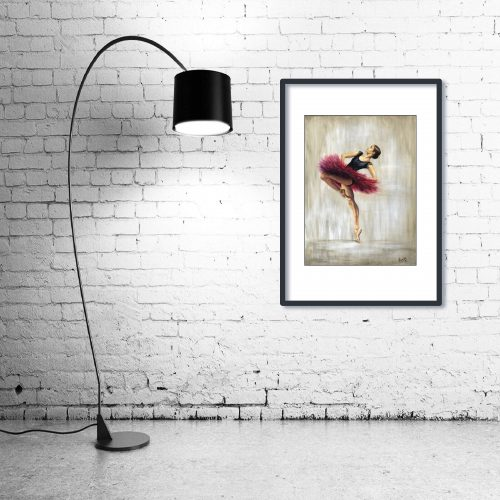 'Ruby' - Wall Art with Lamp