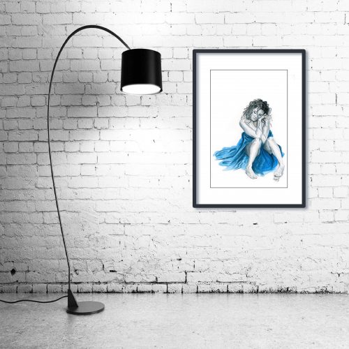 'Tranquility' - Wall Art with Lamp