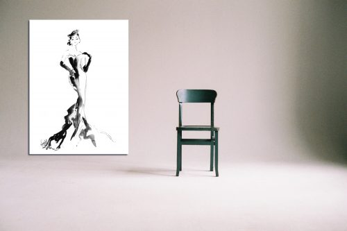 'Tiffany' - Large Canvas With Chair