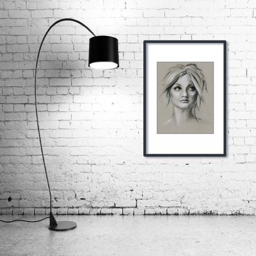 'Soulful' - Wall Art with Lamp