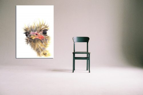 'Boo' - Wall Art with Chair