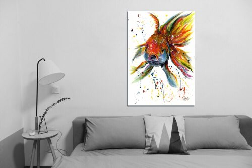 'Fishface' - Wall Art with Sofa