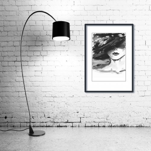 'Visage' - Wall Art with Lamp