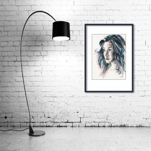 'The Look of Love' - Wall Art with Lamp