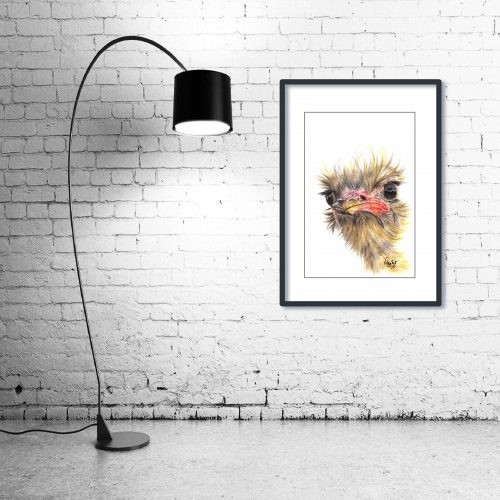 'Boo' - Framed print with Lamp