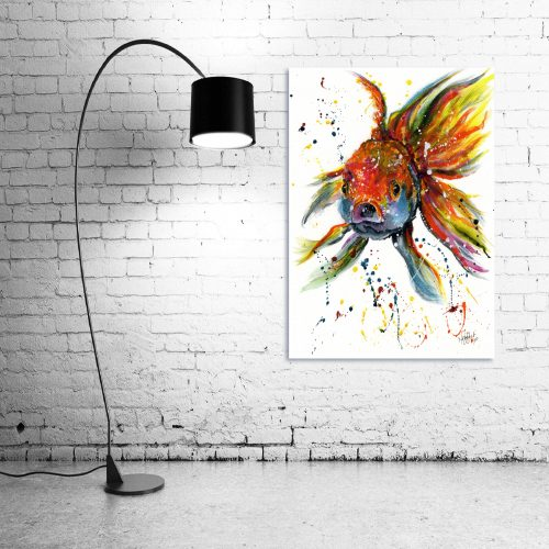 'Fishface' - Wall Art with Lamp