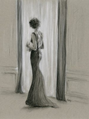 Charcoal Drawing Fashion Art by Migglet 1