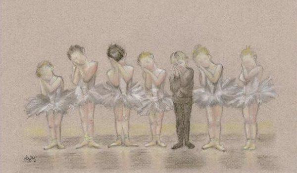 Children dancing ballet by Migglet 1