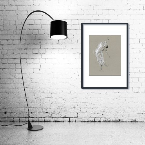 'La Mariposa Blanca' - Wall Art with Lamp