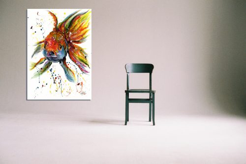 'Fishface' - Wall Art with Chair