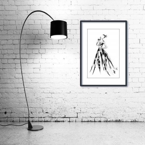 'Eleanor' - Wall Art with Lamp