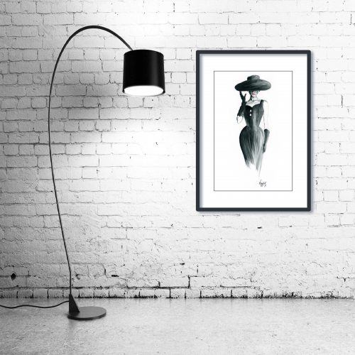 'Grace' - Wall Art with Lamp