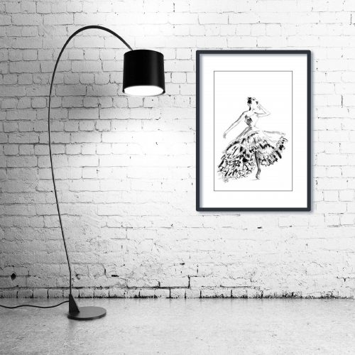 'Gracie' - Wall Art with Lamp