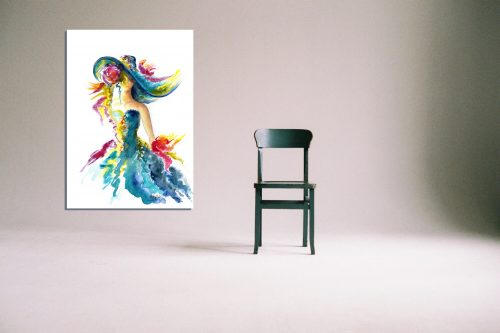 'Ladies Day' - Wall Art with Chair