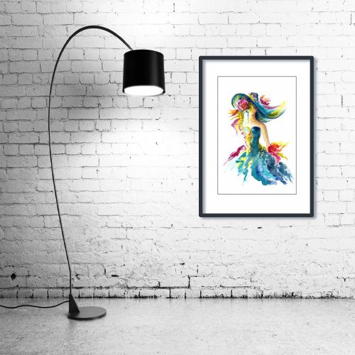'Ladies Day' - Wall Art with Lamp