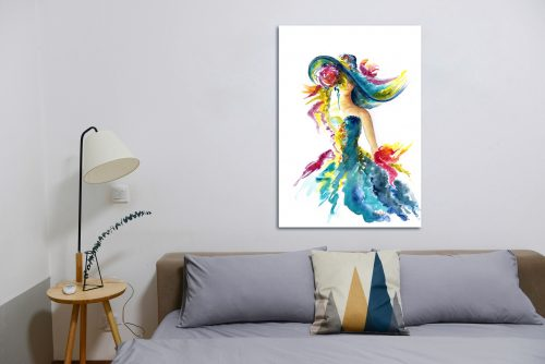 'Ladies Day' - Wall Art with Sofa