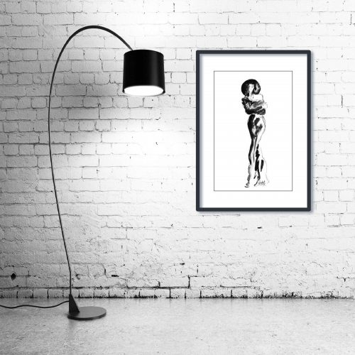 'Lizzie' - Wall Art with Lamp