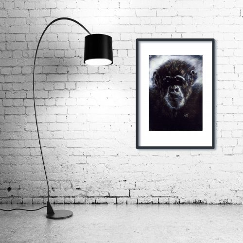 'Murphy' - Framed print with Lamp