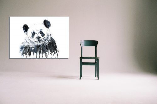 'Panda' - Wall Art with Chair