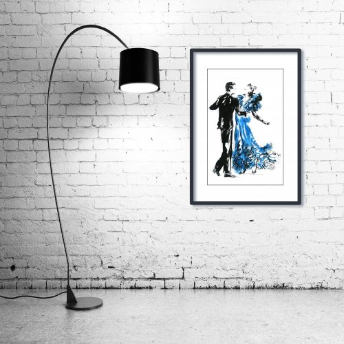'Shall We Dance' - Wall Art with Lamp