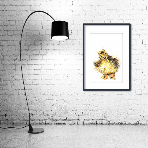 'Sir Noah Little' - Framed print with Lamp