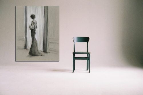 'The Kiss of The Sun' - Large Canvas With Chair