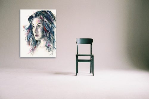 'The Look of Love' Large Canvas Stylised Portraits Wall Art