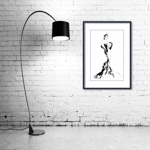 'Tiffany' - Wall Art with Lamp