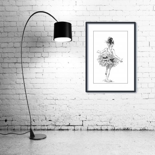 'Tiny Dancer' - Wall Art with Lamp