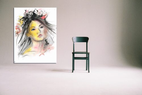 'Veil of Dreams' - Large Canvas With Chair