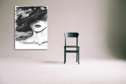 'Visage' Large Canvas Stylised Portraits Wall Art