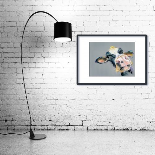 'I Heard That' - Framed print with Lamp