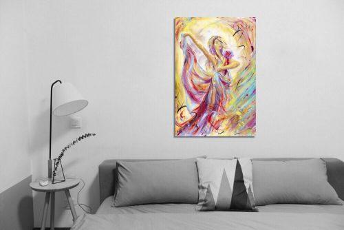 'Reverie' - Framed print with Sofa