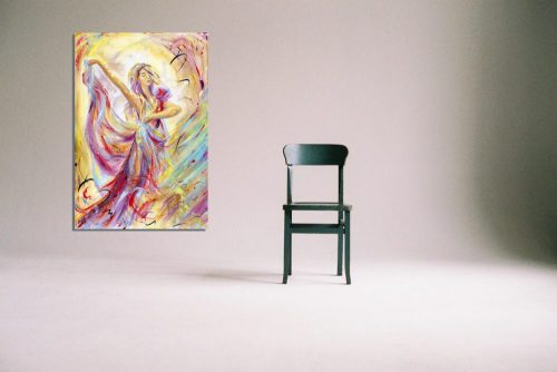 'Reverie' - Framed print with Chair