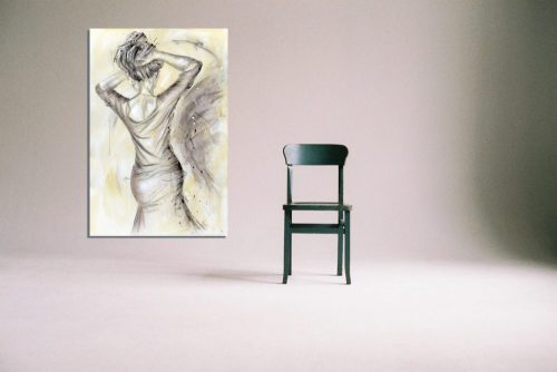 'La Vie en Rose' - Framed print with Chair