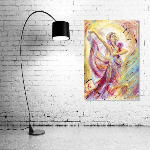 'Reverie' - Framed print with Lamp
