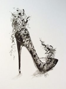 shoes fantasy black lace stiletto