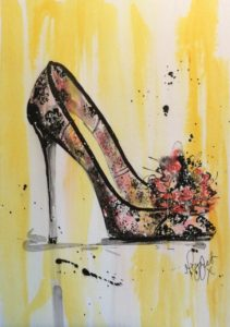 shoes flowers and lace