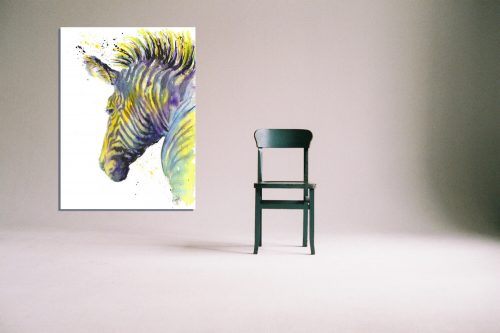 'Zebedee Zebra' - Framed print with Chair