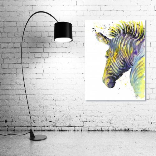 'Zebedee Zebra' - Framed print with Lamp