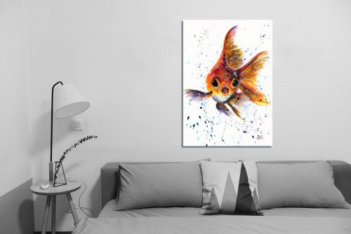 'I'm Forever Blowing Bubbles' Wall Art with Sofa