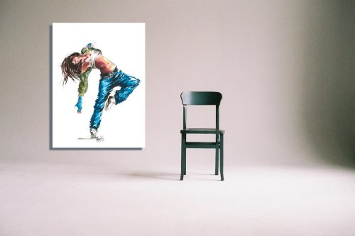 'Street Fever' - Wall Art with Chair