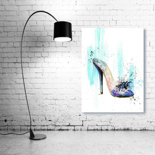 'Blue & Pink Mule' Wall Art with Lamp