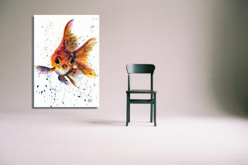 'I'm Forever Blowing Bubbles' Wall Art with Chair