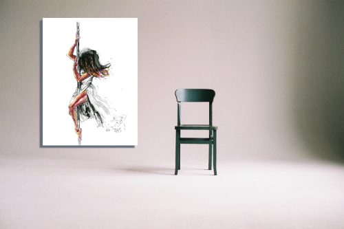 'Poetry In Motion' - Wall Art with Chair
